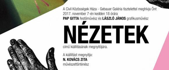 Kiállítás - Pap Gitta és László János: Nézetek