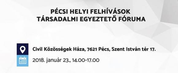 Pécsi helyi Felhívások társadalmi egyeztető fóruma