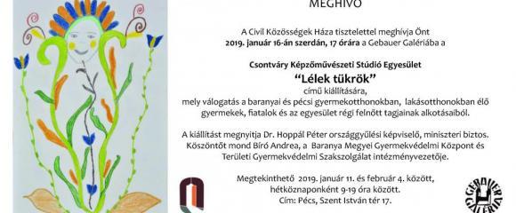 """Gebauer Galéria - a Csontváry Képzőművészeti Stúdió Egyesület """"Lélek tükrök""""című kiállítása"""