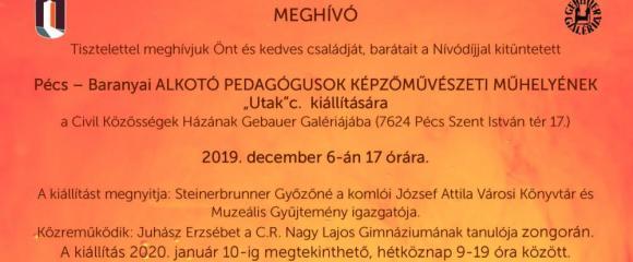 """GEBAUER GALÉRIA: Alkotó Pedagógusok Képzőművészeti Műhelyének """"Utak"""" c. kiállítása"""