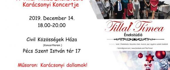 A Tillai Tímea - Énekstúdió karácsonyi koncertje!